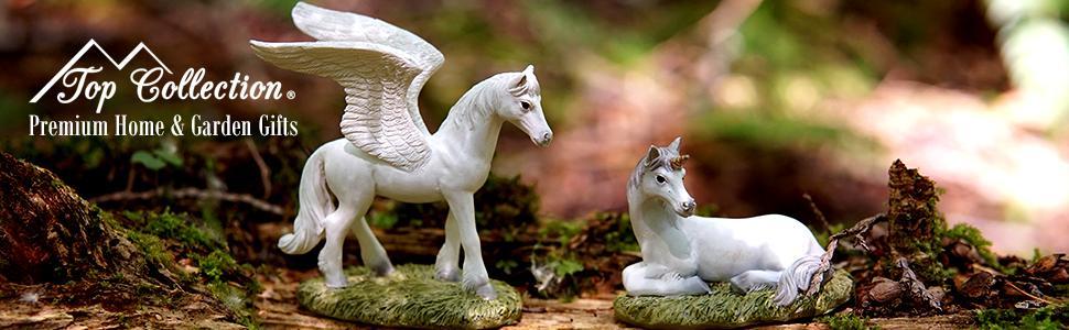 Top Collection Unicorn Pegasus Fantasy Miniature Fairy Garden