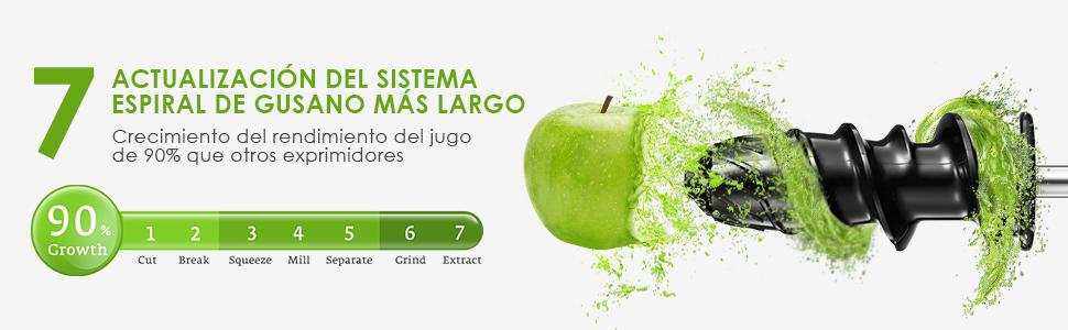Licuadora Prensado en Frio, Aicok Licuadora Frutas Verduras ...