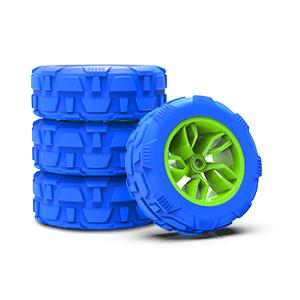 rubber tire car