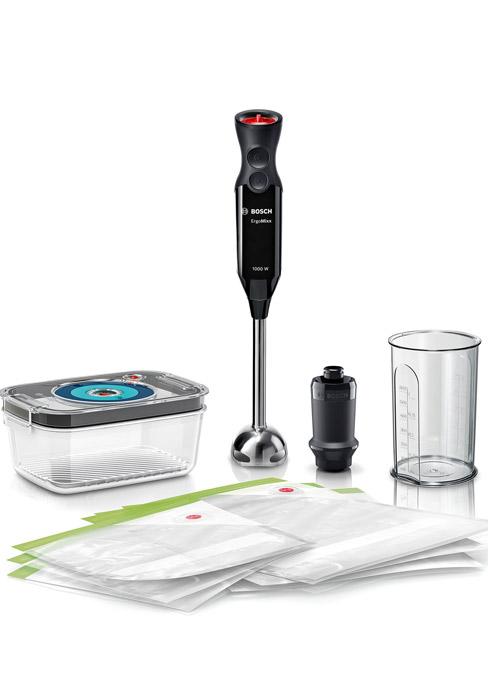 Bosch MaxoMixx Batidora de mano, 1000 W, Acero Inoxidable, 12 Velocidades, Kit envasado vacío: Amazon.es: Hogar