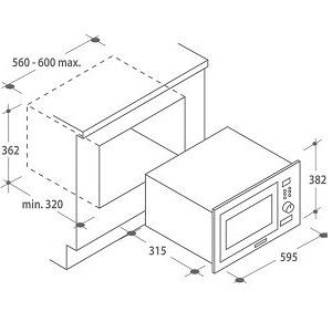 Candy - Microondas de encastre con grill: Amazon.es: Hogar