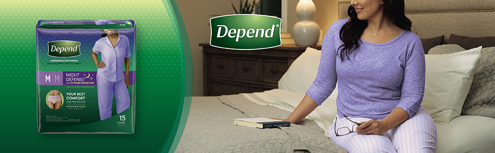 Depend Night Defense Overnight Underwear