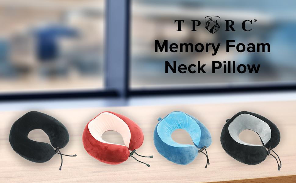 TPRC, neck pillow, memory foam, comfortable, soft, cushion, travel, pillow, neck, snap closure, fun