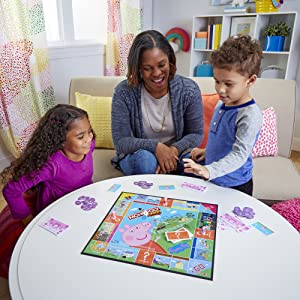 monopoly jr peppa pig edition game; monopoly junior; peppa pig toys; indoor games; board game