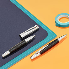 croco rollerball pen and ballpoint