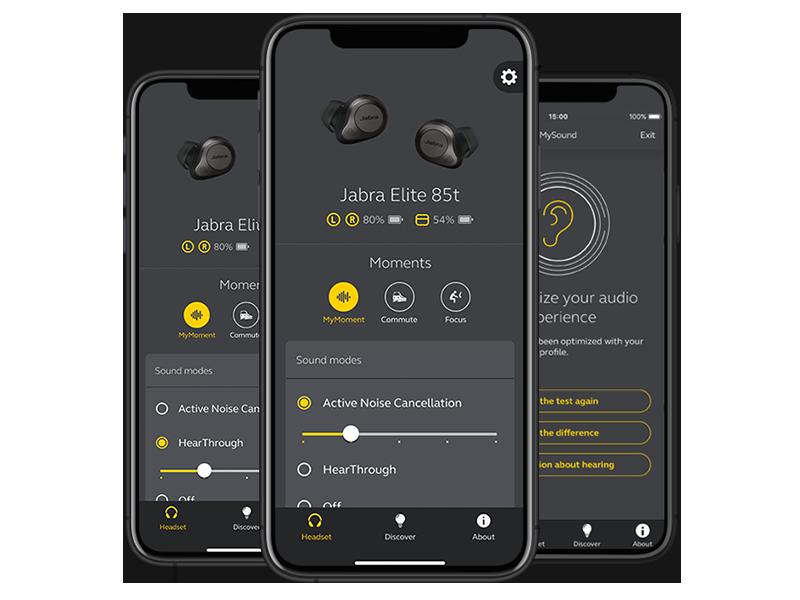 Jabra Sound+app for Jabra headphones. Personalize your music.