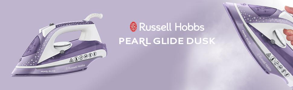 Russell Hobbs Pearl Glide Steam Iron in Dusk, 315ml Tank, 2600 Watt - 23974