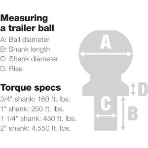 Trailer Hitch Ball Sizes >> Amazon Com Curt 40003 Chrome Trailer Hitch Ball 3 500 Lbs 2 Inch