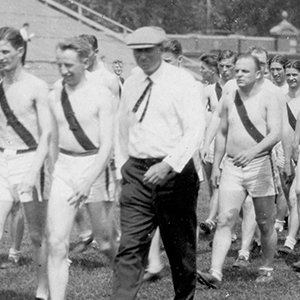 Founder Harry Gill Coaching Track and Field