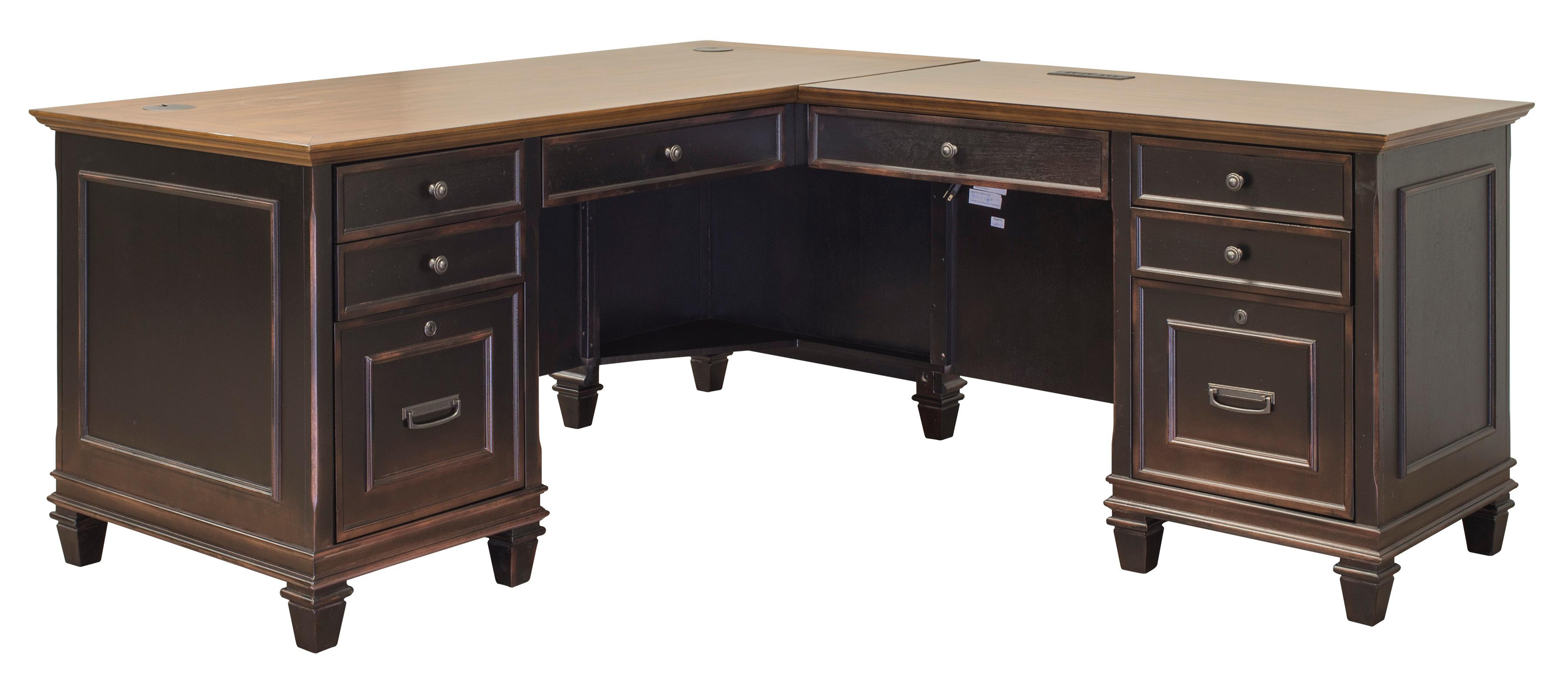Amazon Com Martin Furniture Hartford L Shaped Desk Brown