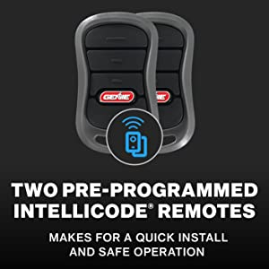 genie chain drive 750 garage door opener comes with two preprogrammed remotes