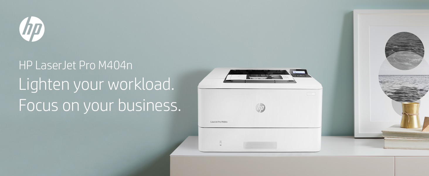 HP LaserJet Pro M404n business multifunction printer moving forward work workload focus