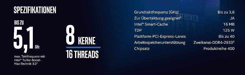 Intel Core I7 10700k Box Computer Zubehör
