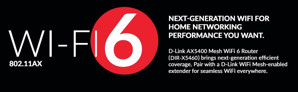 DIR-X5460, router, wi-fi 6, mesh, ax5400
