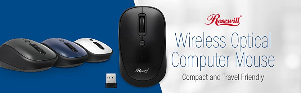 19a47c1c0c0 Amazon.com: Rosewill RWM-001 Portable Cordless Compact Travel Mouse ...