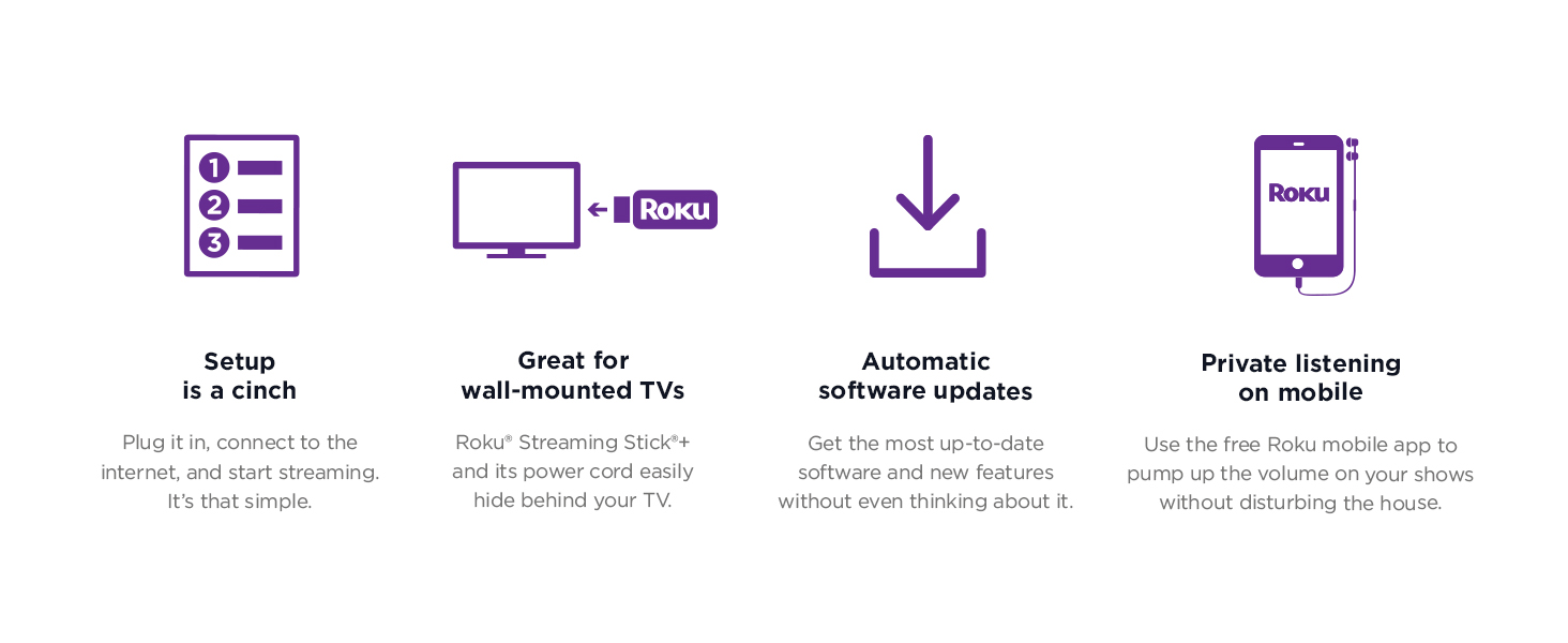 Roku Streaming Stick+   HD/4K/HDR Streaming Device with Long-range Wireless