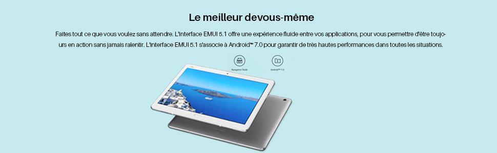 huawei mediapad m3 lite 10 wi fi tablette tactile 10 1 gris 32 go 3 go de ram android 7 0. Black Bedroom Furniture Sets. Home Design Ideas