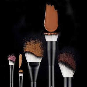Brushes, powder, foundation