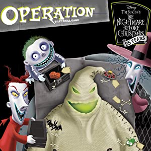 Christmas Operation Game.Operation The Nightmare Before Christmas 25th Anniversary Board Game Themed Operation Game Where Players Operate On Oogie Boogie Celebrate The