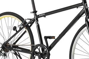 LIG(リグ)700Cシマノ6段変速アルミ製クロスバイク[サムシフト/Vブレーキ/ベル標準装備] CR-7006 LIG