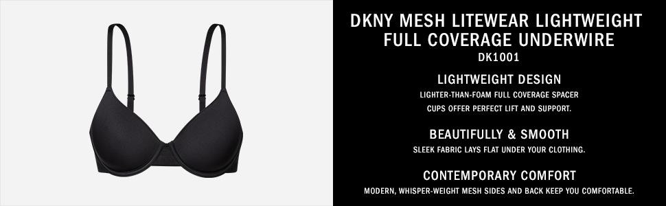 706b8b1fd9e1a DKNY Women s Mesh Litewear Spacer Full Coverage Underwire Bra at ...