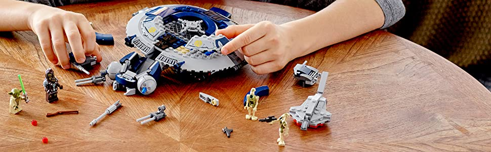 Droide;Gunship;Flugzeug;Cockpit;Shooter;Raketen;Yoda;LEGO;Star;Wars;75233;Action;Jedi;Minifiguren