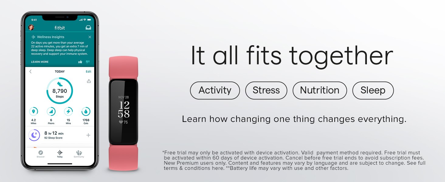 Fitbit Inspire 2 - It all fits together