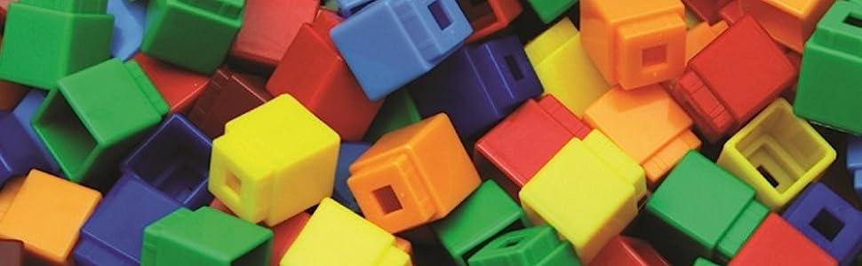 Unifix Cubes Box of 500 Assorted Colors