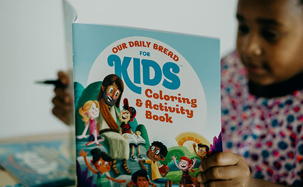 our daily bread for kids, coloring book, activity book