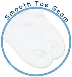 smooth toe seamless socks