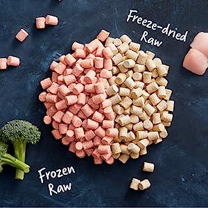 frozen raw food, raw cat food, healthy cat food, freeze dried raw
