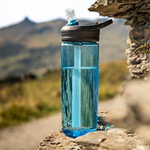 camelbak eddy plus water bottle. reusable water bottle. water bottle with straw. bpa-free bottle
