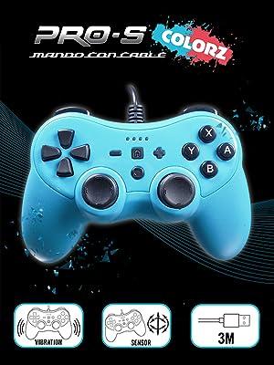 Mando controller para Nintendo Switch, con cable, Azul: Amazon.es ...