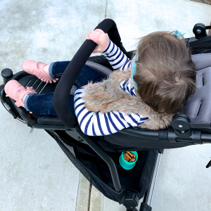 baby in main dot stroller seat