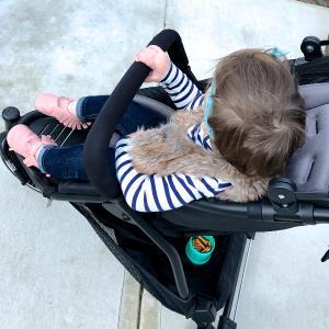baby in main dot stroller seat