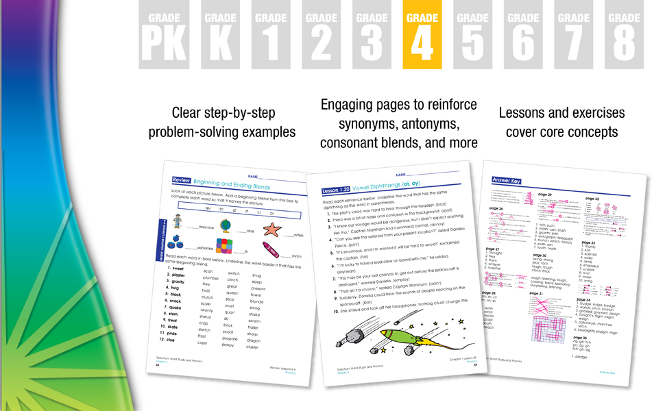 examples of inside worksheets from the workbook