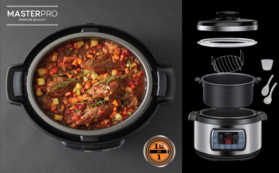 MasterPro, multicooker, ultimate cooker, slow cooker, kitchen, appliance