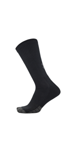 Performance Tech crew, new under armour, black socks, white socks, breathable socks, arch support