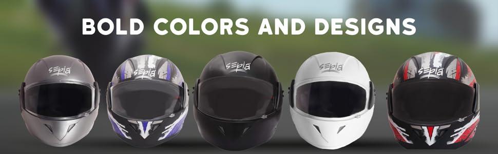 Sepia Premium Rider Helmet