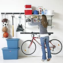 rubbermaid garage storage system kit rail and accessories