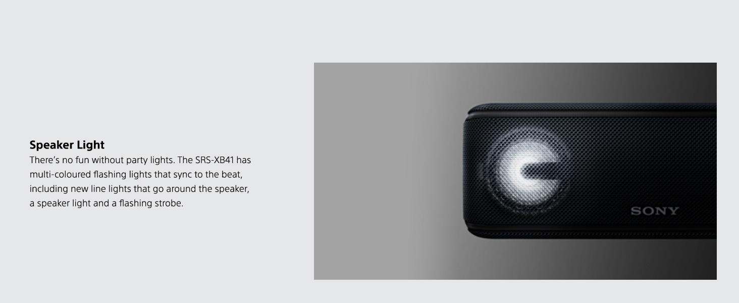 Amazon Com Sony Srs Xb41 Portable Wireless Bluetooth