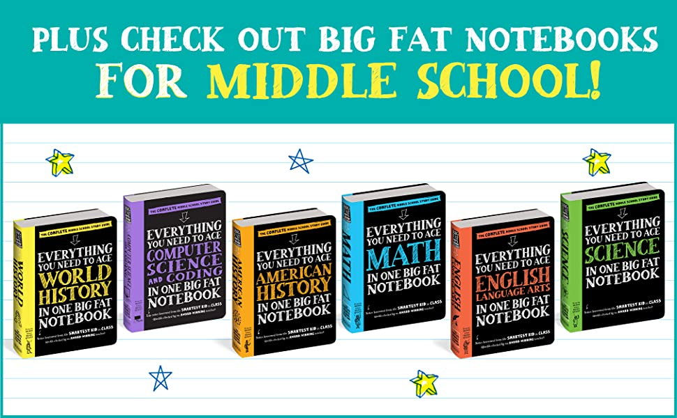 Big Fat Notebooks for Middle School, middle school study guides