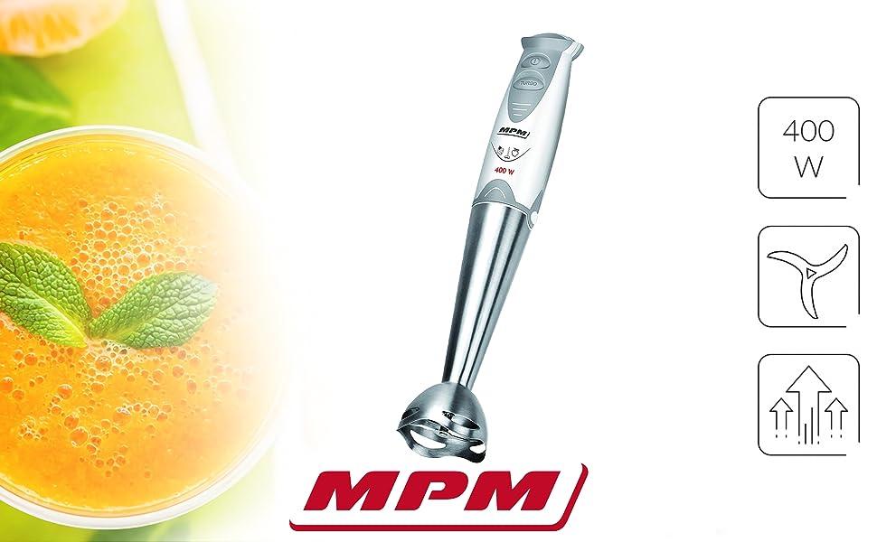 MPM MBL-04 Batidora de Mano Desmontable, Brazo, Función TURBO ...