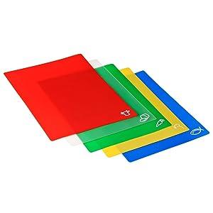 Colourful chopping mats