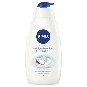 nivea; shower; shower gel; body wash; coconut; soap; moisturise; shower cream; scented body wash