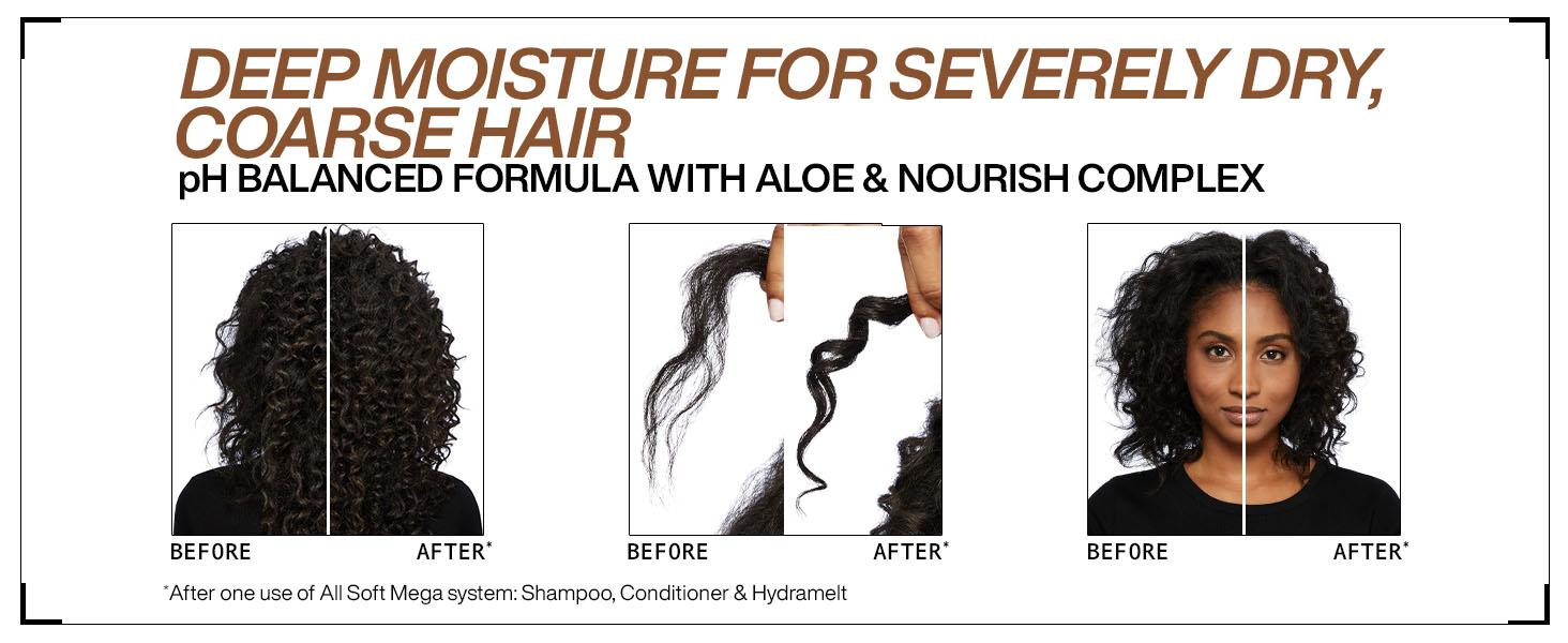 redken all soft mega hydrating shampoo conditioner dry coarse hair mask