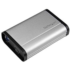 StarTech.com USB 3.0 Video Capture Card - 1080p 60fps Game Capture Card - Aluminum - Game Capture Card - HDMI Capture Card (USB32HDCAPRO)
