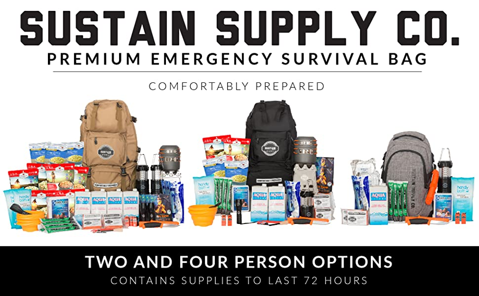 sustain supply co emergency survival bag