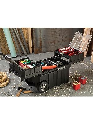 keter masterloader tool box with wheels