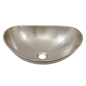hobbes, nickel bath sink, vessel bath sink